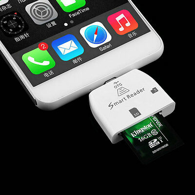 3 in 1 Multifunctional Micro USB Smart Card Reader for OTG Smartphone HR