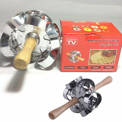 Fast Revolving Donut Cutter Maker Mould Molding Machines Safety Convenience HR