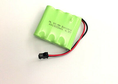 4.8V Ni-MH 1800mAh AA (1*4) 4-Cell Battery Pack SM plug for Double E RC Toy Car