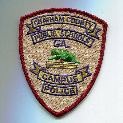 Chatham County Georgia Public Schools Campus Police Patch