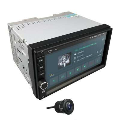 Universal 2Din Android 7.1 2GB RAM in Dash NO-DVD Car Stereo HD 1024x600 GPS Cam