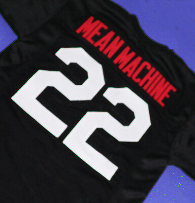 MEAN MACHINE LONGEST YARD MOVIE Jersey PAUL CREWE BLACK SEWN NEW ANY ... df1a1345e