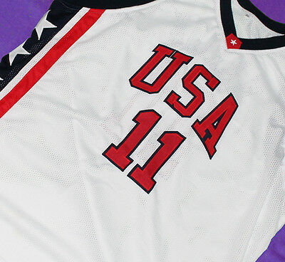 SHAWN MARION  #11 TEAM USA  JERSEY White  SEWN NEW ANY SIZE