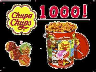 Chupa Chups Tin 1000 x 12g Lollipops Assorted Flavour Fruit Creamy Cola