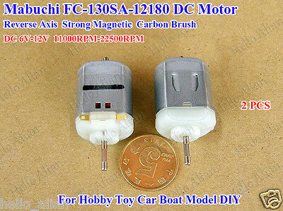 2PCS DC6~12V Mabuchi 130 Motor High Speed Reverse Axis Mini Motor for RC Toy Car