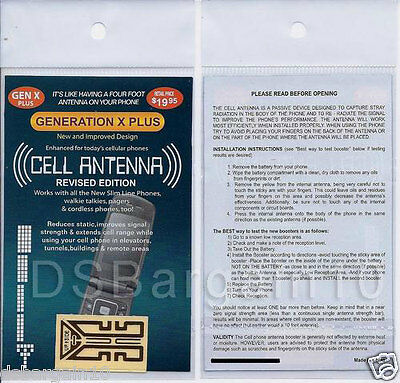 Mobile Antenna Signal Booster Generation X Plus Sticker Latest Revised Edition