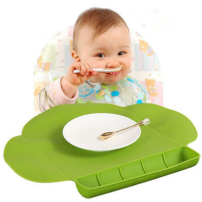 Waterproof Silicone Toddler/Kids Portable Placemat Table Feeding Food Mat Dishes