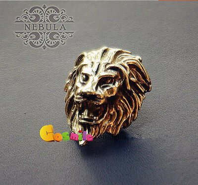 Solid Brass Gold Lion Wallet Accessories Lucky Clasp craft Screw Back