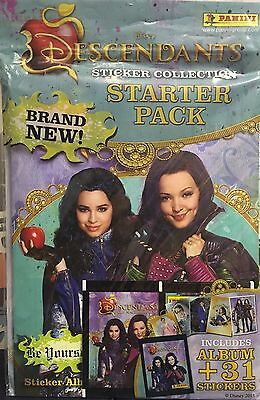 Disney Descendants Panini Sticker Collection Starter Album Pack FREE 31 Stickers
