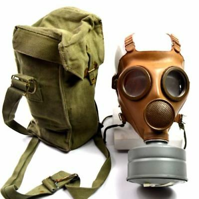 WWII Belgium / French gas mask M51 Old vintage gas mask 1940's