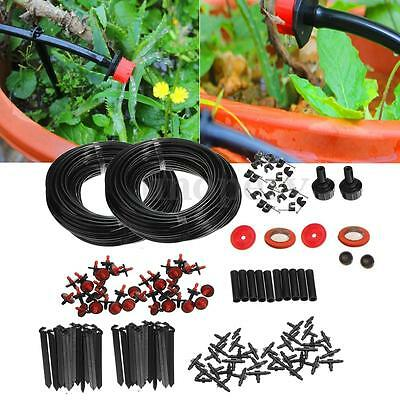 46m Micro Drip Irrigation Watering Automatic System For Plant Garden Greenhouse