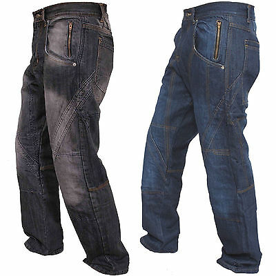 New Motorbike Motorcycle Trousers Jeans Reinforced With Protection Lining