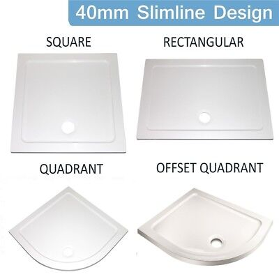 New Acrylic White Pearlstone Shower Enclosure Tray. Various Styles & Sizes