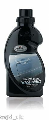 Astonish Crystal Clear Car Cleaning Wash & Wax - 500ml - FREE P&P