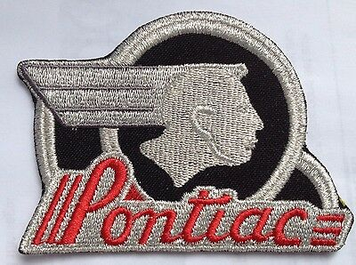 Pontiac Indian Head embroidered cloth patch.     F040102