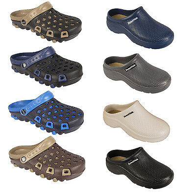 Mens Work Holiday Clogs Garden Kitchen Hospital Sandals Mules Slip On Beach Shoe