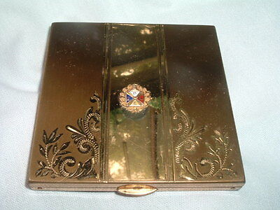 Vintage Knights of Pythias PFLE Enamel Powder Compact by Wadsworth