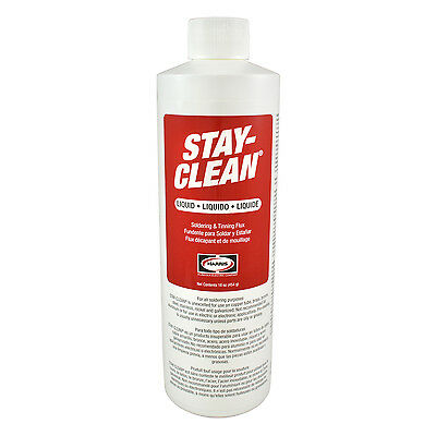 Harris Stay-Clean Soldering & Tinning Liquid Flux 16 ounce Jar, 40003 SCLF16