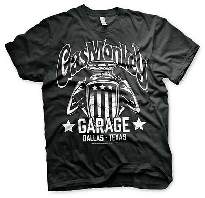 Gas Monkey Garage American Hot Rod Engine Männer Men T-Shirt Black Schwarz