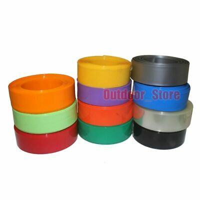 (100mm~199mm) New PVC Heat Shrink Tubing Wrap (7 Color)