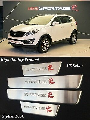 Kia Sportage R Stainless Steel door sill scuff plates 4 Piece Set High Quality