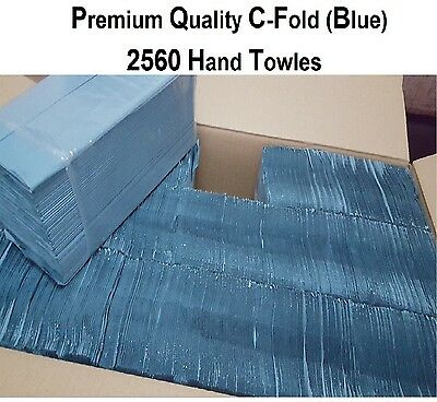 C-Fold Multi Fold Paper Hand Towels in Blue 1 Ply Case of 2560 Soft Tissues