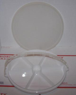 Tupperware PARTY SUSAN divided relish tray with lid & handle # 405