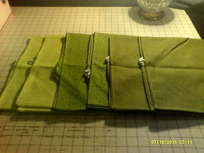 52x22 Standard Daycare cot sheets assorted green (6 sheets)