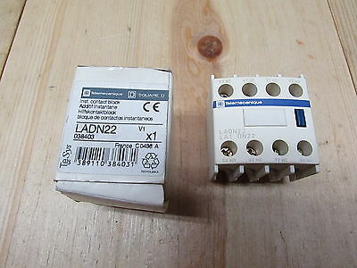 Schneider Electric LADN22 New IEC Auxiliary Contact Block, 10 Amps