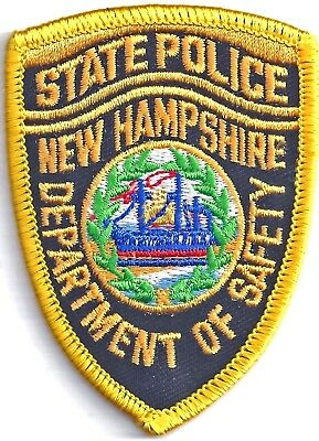 NEW HAMPSHIRE STATE POLICE - POCKET/HAT SIZE - IRON or SEW-ON PATCH
