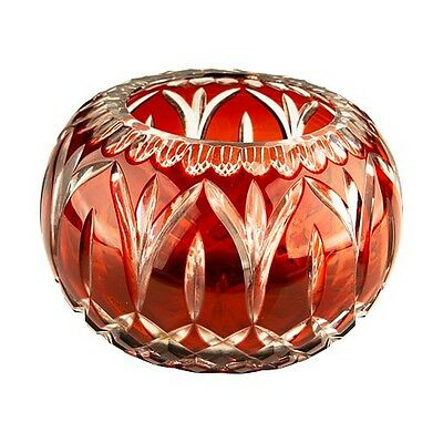 Cranberry Ruby Red Glass Candy Dish Bowl Unique Gift for Her!