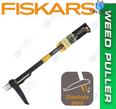 Fiskars Xact W52 Stainless Steel and Aluminium Garden Weed Puller *FAST FREE P&P