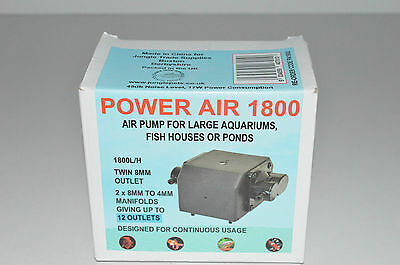 Power 1800 L/H air pump for large tanks, fish houses or ponds up to 12outlet
