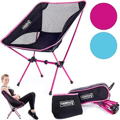Pink Camping/Backpacking Chair: Lightweight, Durable, Portable, Folding, Compact