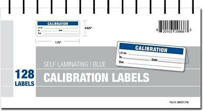 Calibration Labels - Self Laminating in Protective Cover Book (Blue), New, Free