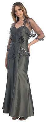 Sale ! Modest Corset Mother Of Bride Plus Size Dress Formal Evening Church Gowns