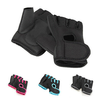 Sport Cycling Fitness GYM Half Finger Gloves Weightlifting Exercise Training T1