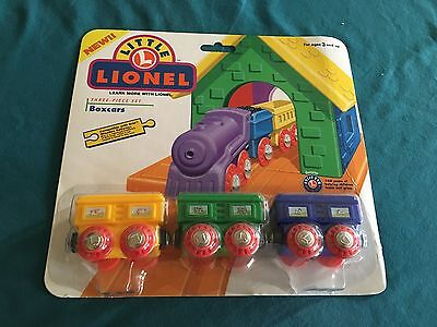 Little Lionel Three Piece Box Car Set MOC