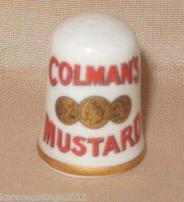 Caverswall Bone China Thimble - Advertising - Colman's Mustard