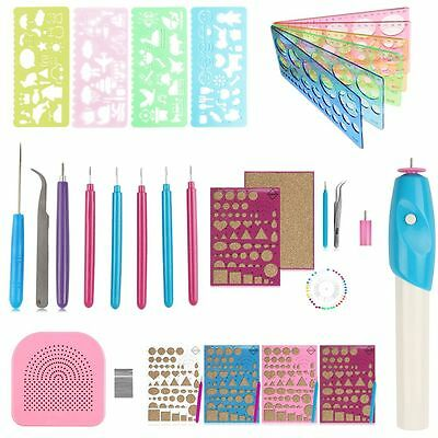 Paper Quilling Slotted Needle Tool Pen Pin Tweezer Board Ruler Grid Guide DIY AU