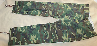 Military Style Green Dominate Erdl Woodland Bdu Camo Trousers Pants 39X31