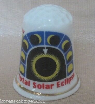 Highly Collectable Thimble - Event - Total Solar Eclipse 1999