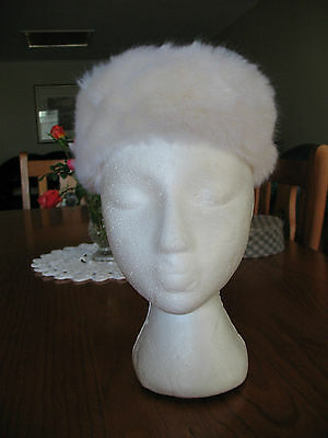 Pill Box Hat Vintage 1960`s Judith White