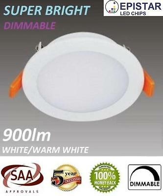 10W LED DOWNLIGHT DIMMABLE / NON KIT 90MM CUTOUT IP54 WARM/DAYLIGHT WHITE 10 x
