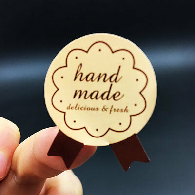 150pcs/lot Hand Made Medal Sealing label Sticker for cake decoration.