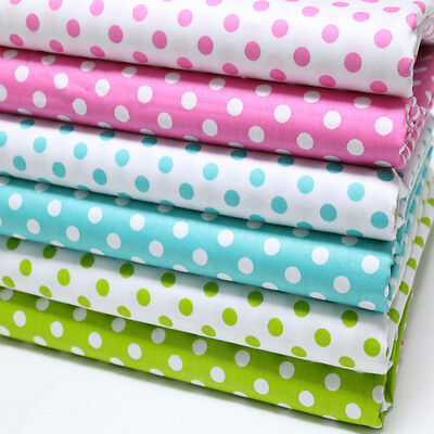 One PCS Cotton Fabric Pre-Cut Cotton cloth Fabric for Sewing Polka Dots D7