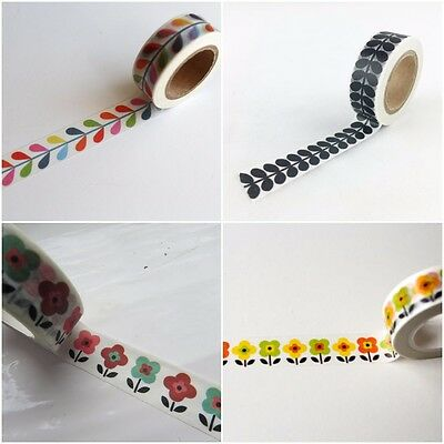Orla Kiely Inspired Pattern Washi Tape / Bright Crafting, Gift Wrapping Tape