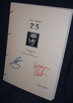 Movie Script - Cast Signed - The Number 23 - Jim Carrey