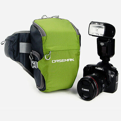 73da76eef76 Caseman AW02 Green Camera Bag SLR DSLR Case Waterproof waist Fanny pack  Belt bum