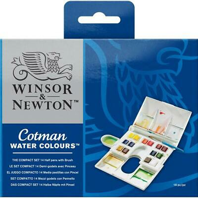 Winsor & Newton Cotman Water Colours - Compact Set - 14 Half Pan Set